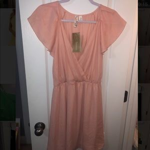 Francesca's Pink Flowy Dress